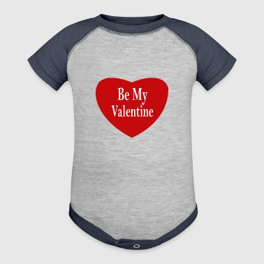 Be My Valentine - Baby Contrast One Piece