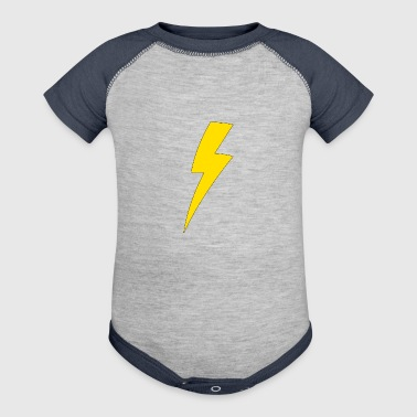 Lightning bolt - Baby Contrast One Piece
