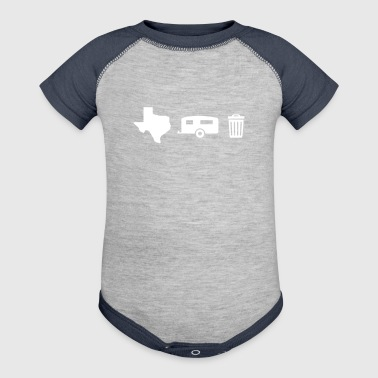 Texas Trailer Trash (Icons - Horizontal/Light Hue) - Baby Contrast One Piece