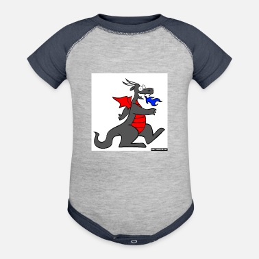 Red Dragon Dragon red - Contrast Baby Bodysuit
