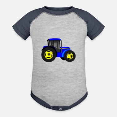 Tractor tractor kids children gift idea - Baby Contrast One Piece