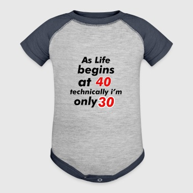 30th birthday design - Baby Contrast One Piece