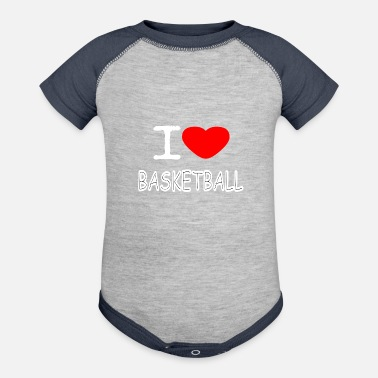 I Love Basketball I LOVE BASKETBALL - Contrast Baby Bodysuit