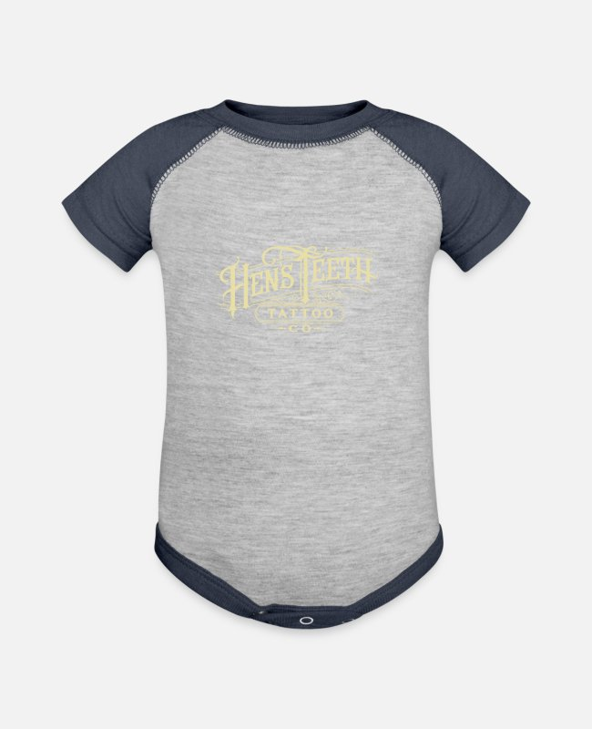 Movie Baby One Pieces - Hens teeth - Baseball Baby Bodysuit heather gray/navy