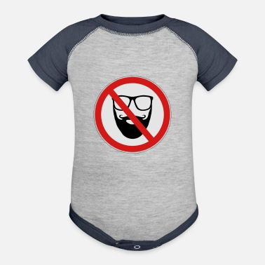 Prohibitory Sign No Hipster Sign - Baseball Baby Bodysuit