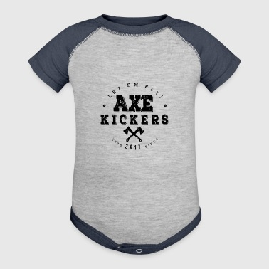 AXE KICKERS LOGO - Baby Contrast One Piece