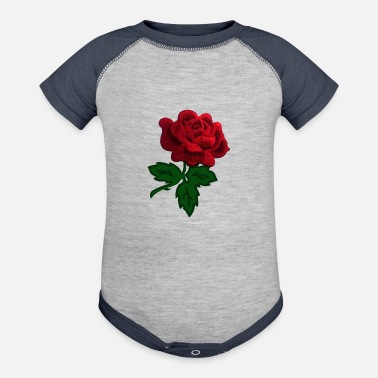 Rose red rose - Baseball Baby Bodysuit