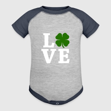 Four Leaf Clover Love - Baby Contrast One Piece