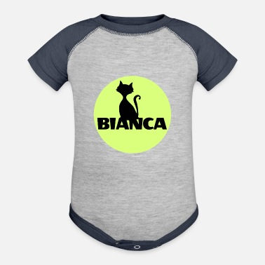 Name Day Bianca name first name - Contrast Baby Bodysuit