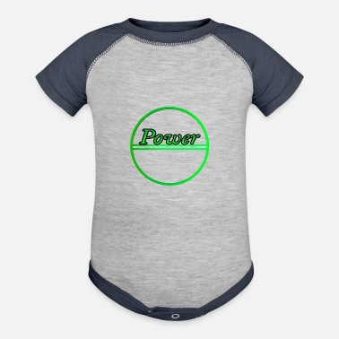 Power Power - Contrast Baby Bodysuit
