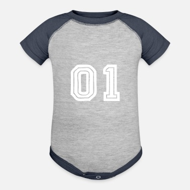 Jersey Number 01 number jersey - Contrast Baby Bodysuit