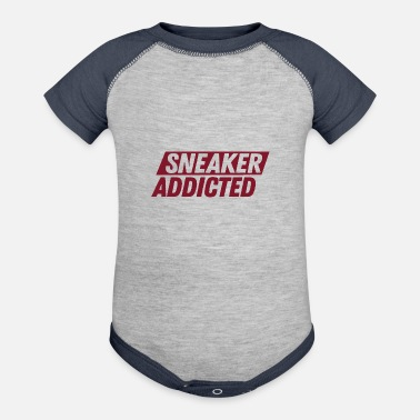 Streetwear Sneaker Addicted shoes collector gift sneaker - Contrast Baby Bodysuit