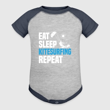 Kiteboarding Kiteboarder Kitesurfer Quote Fun Gift - Baby Contrast One Piece