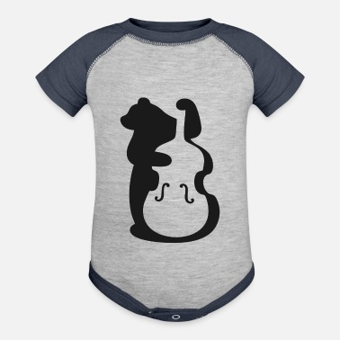 Cello cello bear MUSIC PLAYER TEE - Contrast Baby Bodysuit