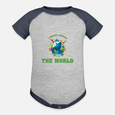 World travel the world - Contrast Baby Bodysuit