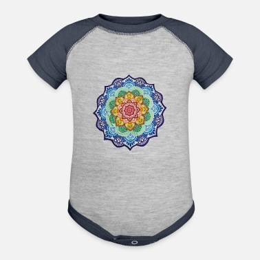 Colorful Colorful Mandala - Baseball Baby Bodysuit
