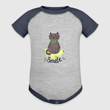 Cat Cute Smile - Baby Contrast One Piece
