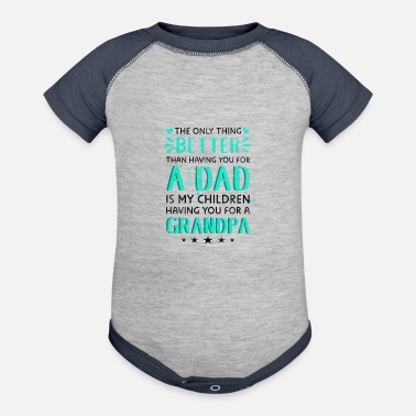 Pregnancy Father's Day Gifts Grandpa Pregnancy Announcement - Baby Contrast One Piece