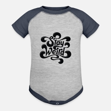 Typo Collection Stay Weird - Baseball Baby Bodysuit