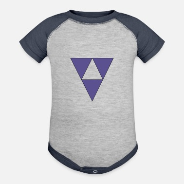 Triangle Triangles - Baseball Baby Bodysuit