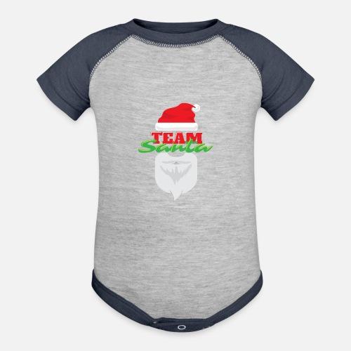 343497b8cd Contrast Baby BodysuitChristmas Team Santa - Gift Idea. vicoli-shirts