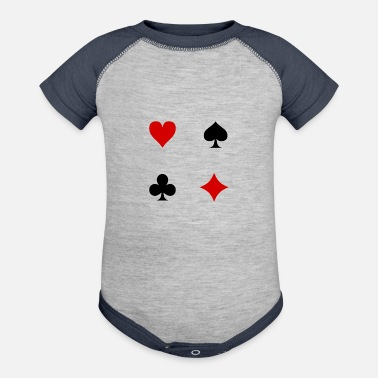 Playing Card Playing cards - Contrast Baby Bodysuit