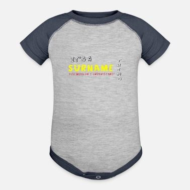 Surname It s A Surname Thing - Baseball Baby Bodysuit