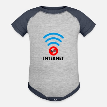 Internet no internet - Baseball Baby Bodysuit
