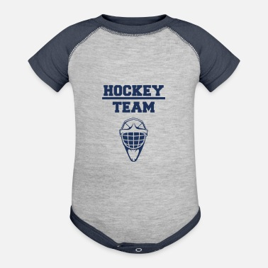 Hockey Team Hockey Team - Baseball Baby Bodysuit