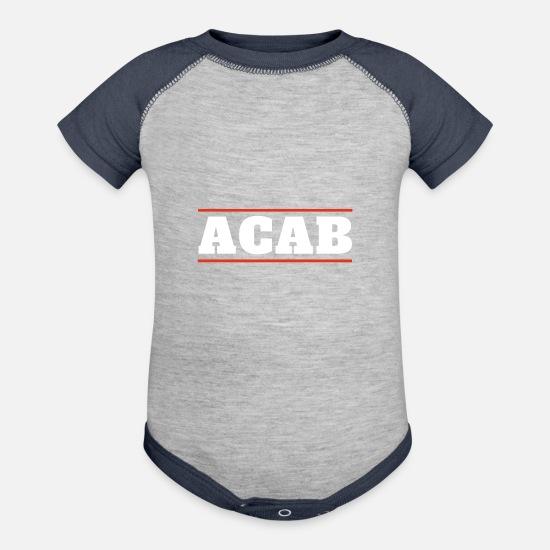 69244c7b6674f ACAB Contrast Baby Bodysuit | Spreadshirt