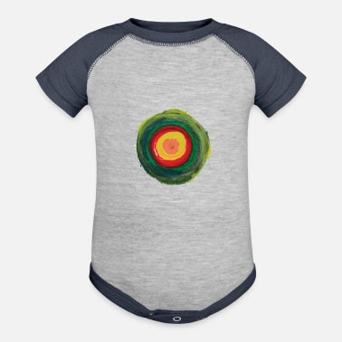 Abstract abstract painting t-shirt | abstract painting the - Baseball Baby Bodysuit
