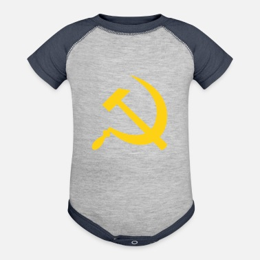 Fps Russia Yellow Hammer & Sickle - Baseball Baby Bodysuit
