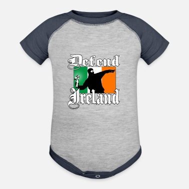 Irish Hooligan with Ireland Flag - Baseball Baby Bodysuit
