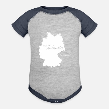 Mein Zuhause T-Shirt, Deutschland, Germany, White - Baseball Baby Bodysuit