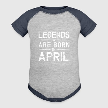 Legends Born In April | April Birthday - Baby Contrast One Piece