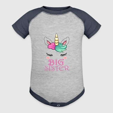 Big Sister Unicorn Gift - Baby Contrast One Piece