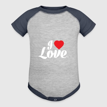 I Love Love - Baby Contrast One Piece