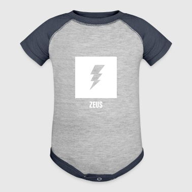 Zeus | Greek Mythology God Symbol - Baby Contrast One Piece
