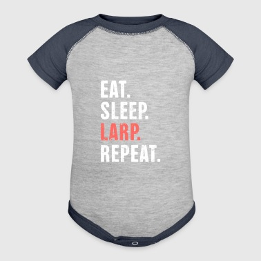 Larp Eat. Sleep. LARP. Funny LARP Design - Baby Contrast One Piece