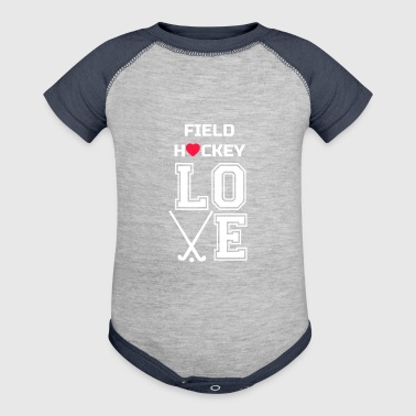 Love Field Hockey, Girls Field Hockey, Field Hockey Gift - Baby Contrast One Piece
