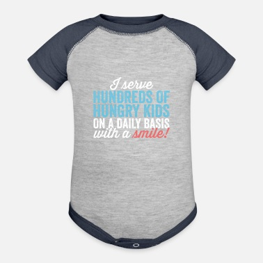 Lunch Hundreds Of Kids With A Smile Lunch Lady Shirt - Baseball Baby Bodysuit