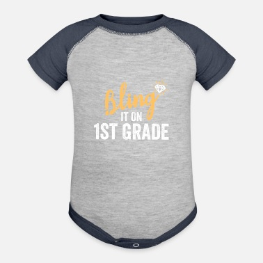 First Day Of Bling It On 1st Grade Shirt Back to School - Baseball Baby Bodysuit
