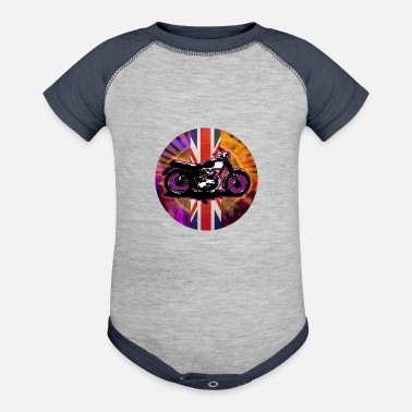 Classic British Bike - Baseball Baby Bodysuit