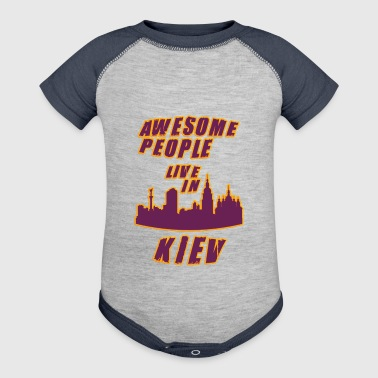 KIEV Awesome people live in - Baby Contrast One Piece