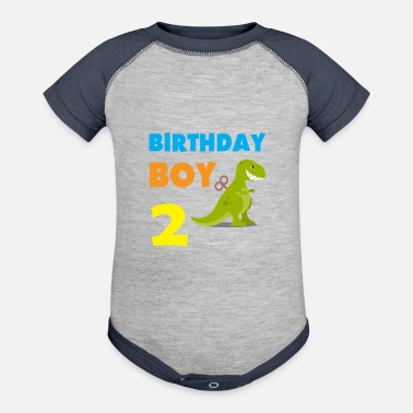Old Birthday boy 2 years old - Contrast Baby Bodysuit