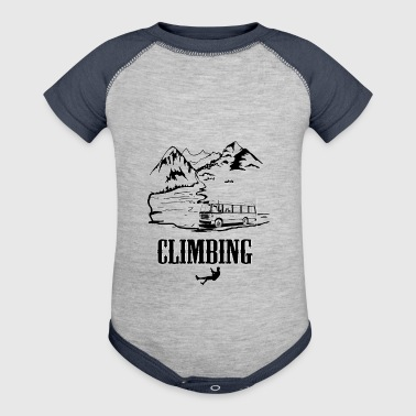 Mountain Climbing - Baby Contrast One Piece