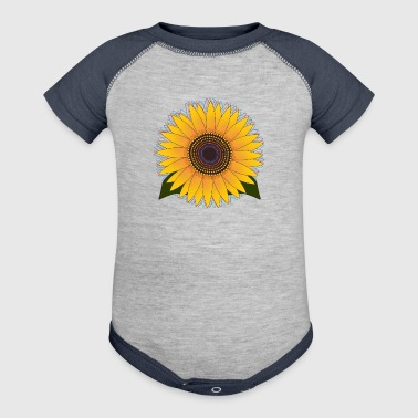 Sunny Sunflower - Baby Contrast One Piece