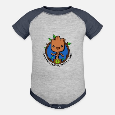 Save Save the planet - Baseball Baby Bodysuit