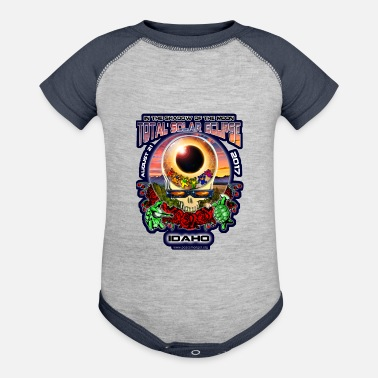 Grateful Dead Idaho Eclipse Your Face Total Eclipse Souvenir Art - Contrast Baby Bodysuit