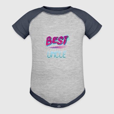 80s Best Uncle 80s Retro - Baby Contrast One Piece